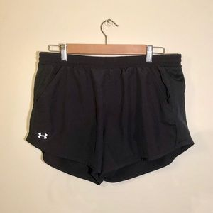 Black Under Armour shorts- good condition, large